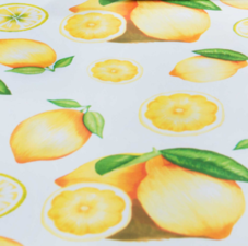 40x140cm Restje tafelzeil citroentje fris