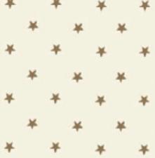 Rond tafelzeil sterren goud op creme (140cm)