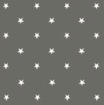 Rond tafelzeil sterren wit op grijs (140cm)