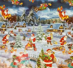 Ovaal Kerst tafelzeil winter wonderland