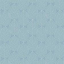 Rond tafelzeil leafs sky blauw (ca. 137cm)