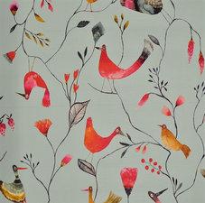 Rond tafelzeil vogeltjes mint (140 cm)