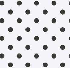 100x140 cm Restje Tafelzeil wit met zwarte stippen