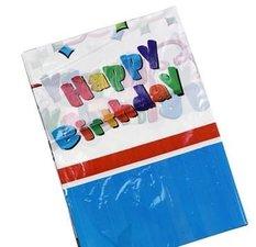 Plastic tafelkleed verjaardag