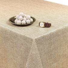 Rond tafelzeil linnux beige (140cm)