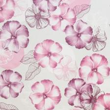 Rond tafelzeil bloemen roze/paarse tinten (140cm)