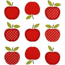 Ovaal tafelzeil vintage appel rood