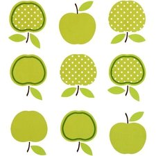 Ovaal tafelzeil vintage appel groen