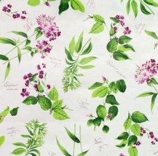 Ovaal tafelzeil bloemen paars