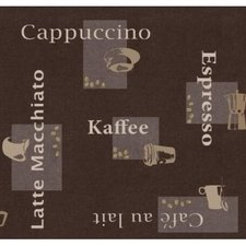 Ovaal tafelzeil koffie
