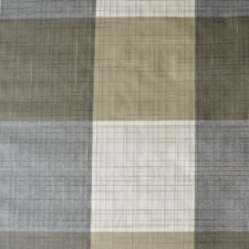 Wasbaar tafelzeil geblokt wit/grijs/bruin