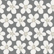 Tafelzeil big flower grijs/wit