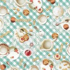 SALE Rond tafelzeil servies tea time 140cm