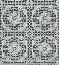 SALE kant tafelzeil wit gehaakt patroon 115x140cm