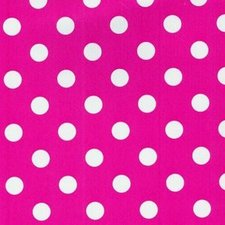 SALE tafelzeil roze met witte stippen 235x140cm
