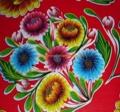 SALE Mexicaans tafelzeil floral rood 100x120cm