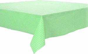 Papieren tafelkleed ruitjes groen