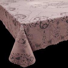 Tafelkleed buiten vinyl oud roze 135x180cm