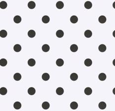 45x140cm Restje tafelzeil wit met zwarte stippen