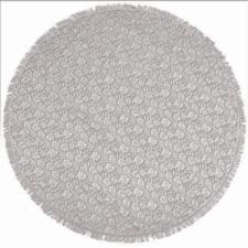 Rond buiten tafelkleed 160cm schuimvinyl kasteel grijs (dikke kwaliteit)