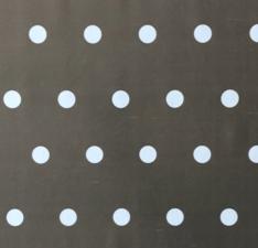 Groot rond tafelzeil stippen grijs/taupe (160cm)