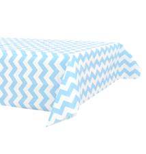 Papieren tafelkleed 120x180cm blauw