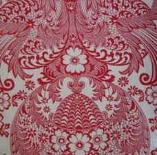 Rond Mexicaans tafelzeil paraiso rood (120cm)
