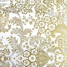 Rond Mexicaans tafelzeil paraiso goud (120cm)
