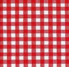 Rond Mexicaans tafelzeil ruitjes rood (120cm)