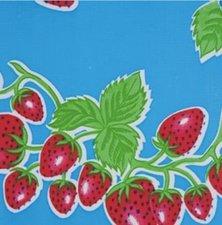 Mexicaans tafelzeil aardbei blauw