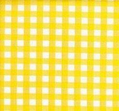 Ovaal Mexicaans tafelzeil ruitjes geel