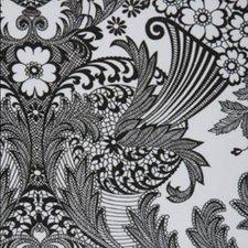 Rond Mexicaans tafelzeil paraiso zwart op wit (120cm)
