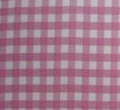 Rond Mexicaans tafelzeil ruitjes roze (120cm)