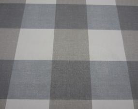 Rond tafelzeil blokken grijs/blauw (140cm)