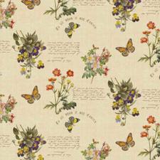 Rond tafelzeil brocante bloemen en vlinders (140cm)