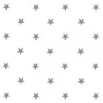 50x140cm Restje tafelzeil zilveren sterren op wit