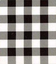 50x120cm Restje Mexicaans tafelzeil Boerenruit zwart