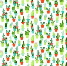 Rond tafelzeil cactussen met bloemen (137cm)