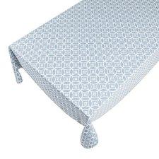 Katoenen tafelkleed 140x250cm blauw/grijs