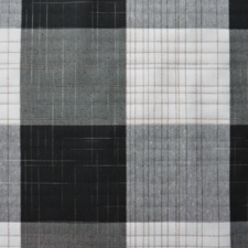 SALE linnen tafelzeil geblokt wit/grijs/zwart 130x140cm (wasbaar)