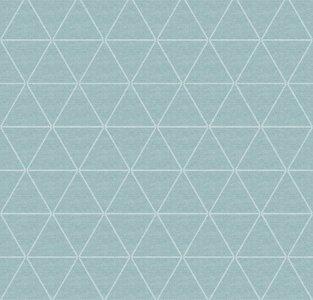 95x140cm Restje wasbaar tafelzeil triangle mintgroen