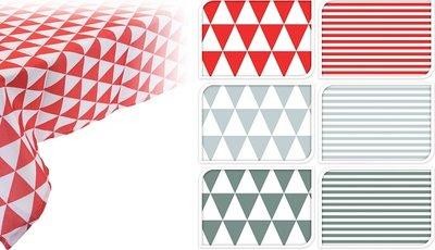 Tafelkleed 130x180cm strepen rood