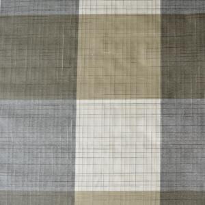 SALE tafellinnen geblokt wit/grijs/bruin 200x140cm (wasbaar)