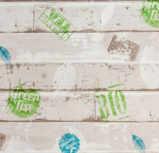 50x140cm Restje tafelzeil steigerhout Bio & green tea