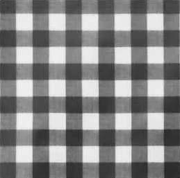 Rond tafelzeil grote ruit zwart (140cm)