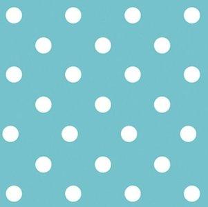 Rond tafelzeil stippen oceaan blauw (140cm)