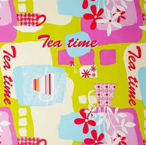 Tafelzeil tea time/theepot