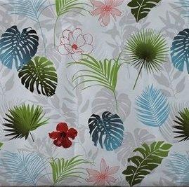 ovaal tafelzeil palmbladeren bloemen