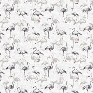 Rond tafelzeil flamingoland grijs tinten (ca. 137cm)