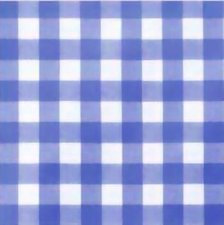 80x140cm Restje tafelzeil grote ruit blauw